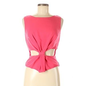 Cotton Candy Knot Sleeveless Blouse